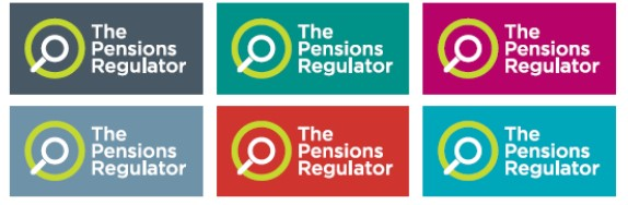 Six examples of our Reversed out logo applied over primary and secondary colours