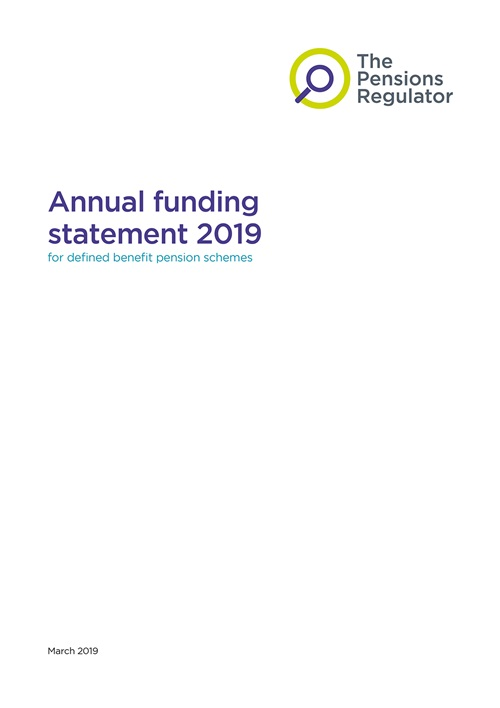 An example of the front page of an annual funding statement