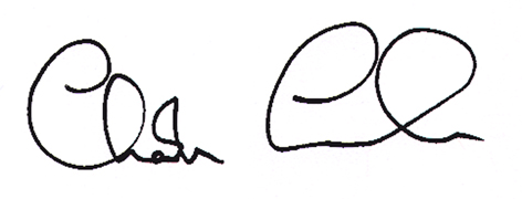 Charles Counsell's signature